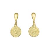 Cercei placati cu aur de 18 k, colectia Golden shine -7350O811