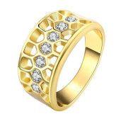 Inel placat cu aur de 18 k, cu cristale zirconia-7396O921