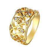 Inel placat cu aur de 18 k, cu cristale zirconia-7397O922