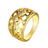 Inel placat cu aur de 18 k, design modern 7458O924