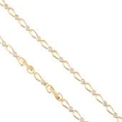 Bratara placata cu aur 18 k, cu pietre zirconia multifatetate - 7657O432