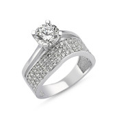 Eternity, inel argint 925,rodiat, model inel de logodna si verigheta 7482O966